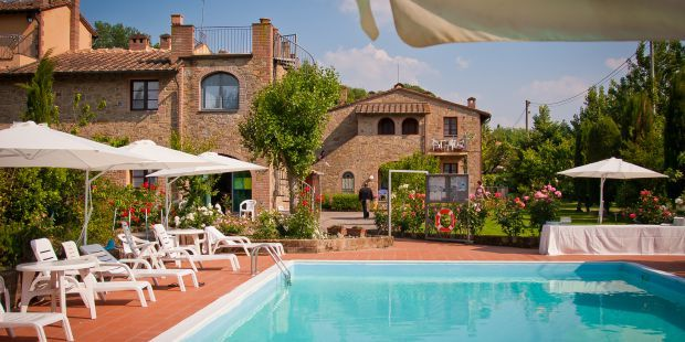 Santa Maria Residence in the Chianti area offers comfortable holiday apartments and a large swimming pool - read more on http://www.tuscanyaccommodation.com/residence-santa-maria.html - #tuscany #italy