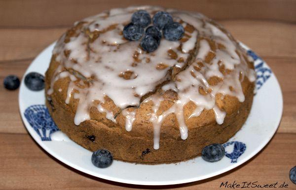 Glutenfreier Blaubeerkuchen mit Mandeln Glutenfree blueberrycake