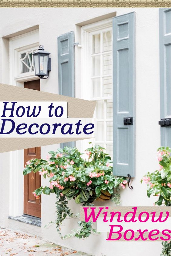 Great Ideas for Decorating Your Window Box! Get wonderful Window Boxes from The Well Appointed House.