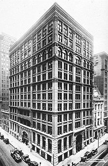Home Insurance Building, Chicago (1884 -1931) is generally noted as the first tall building to be supported, both inside and outside, by a fireproof metal frame. It is considered to be the first skycraper to be built in the world.