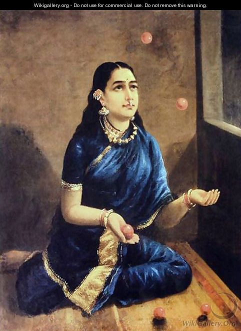 Lady Juggler by Raja Ravi Varma