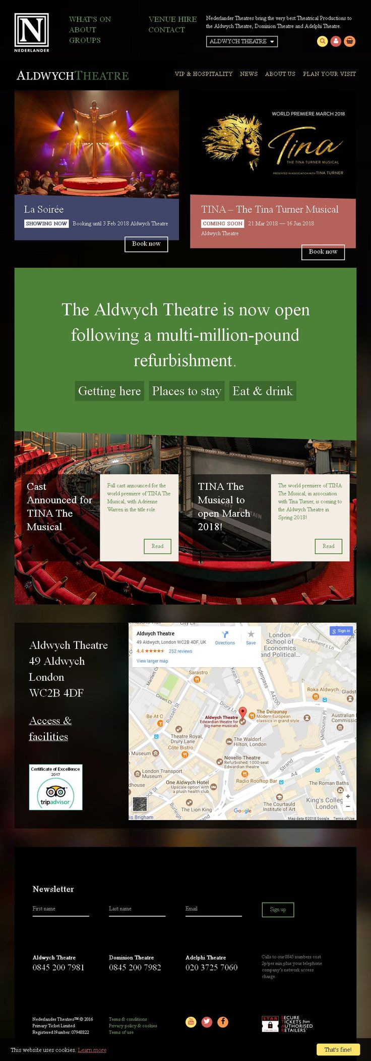Aldwych Theatre Theatres 49 Aldwych   London London WC2B 4DF   To get more infomration about Aldwych Theatre, Location Map, Phone numbers, Email, Website please visit http://www.HaiUK.co.uk