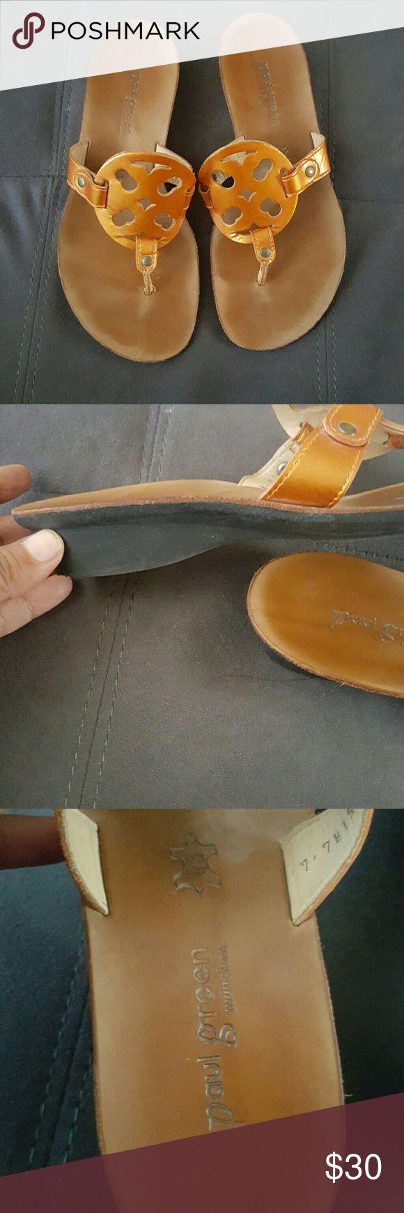 Paul Green Sandals Size 7 Excellent Condition...Orange brownish Color...Super Cute!!! Paul Green Shoes Sandals
