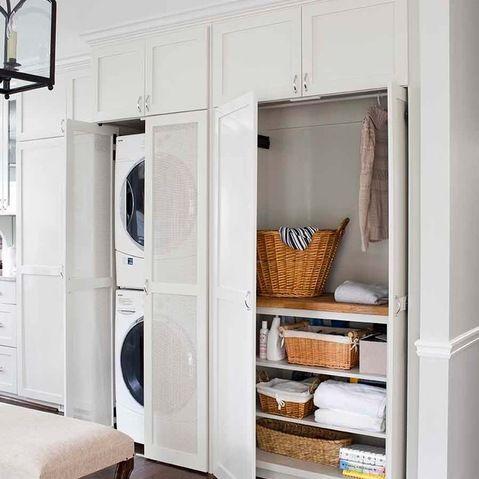 salle de lavage et de rangement maximiser l 39 utiliser de l 39 espace salle de lavage buandrie. Black Bedroom Furniture Sets. Home Design Ideas