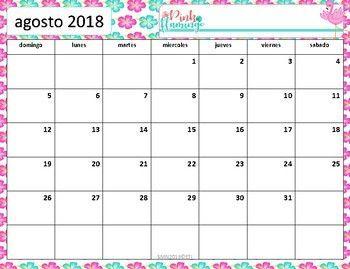 Calendario académico 2018 - 2019 Flamingo | calender ...