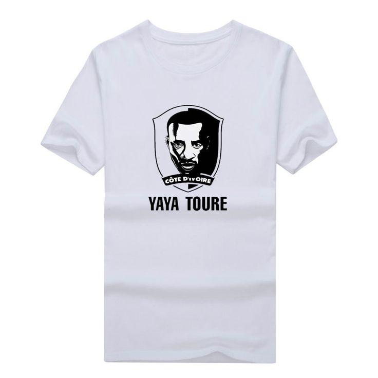 >> Click to Buy << 2017 Men Ivory Coast Star #42 Yaya Toure T-shirt Tees Short Sleeve manchester star T SHIRT Men's Coate d'Ivoire W1121007 #Affiliate
