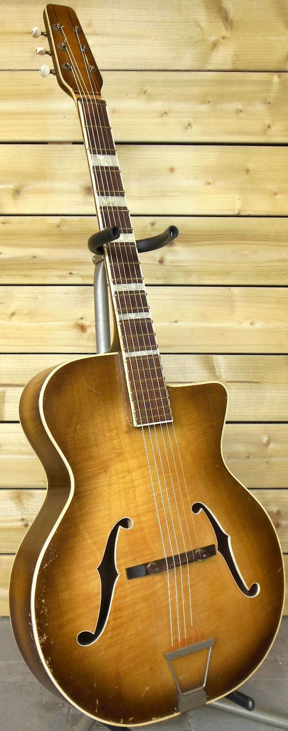 60s Jacques Favino - Acoustic Gypsy Jazz Guitar --- https://www.pinterest.com/lardyfatboy/