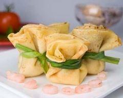 Aumônières aux crevettes et curry Ingrédients