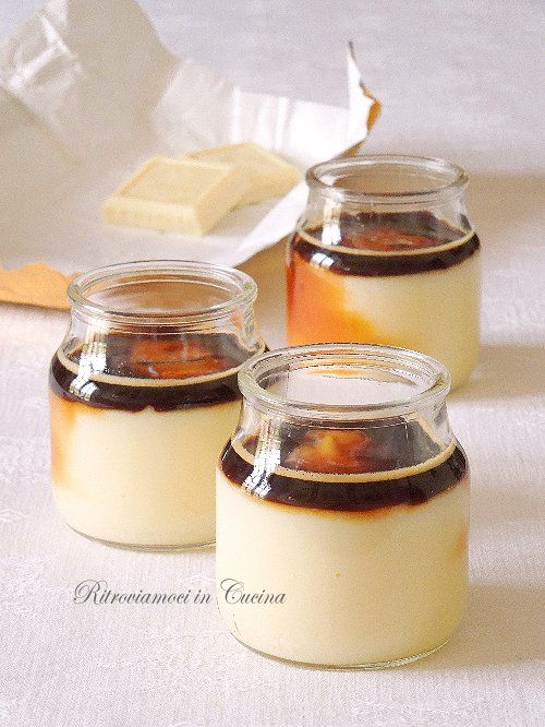 Vasetti di Crema Pasticciera al Cioccolato Bianco e Caffè