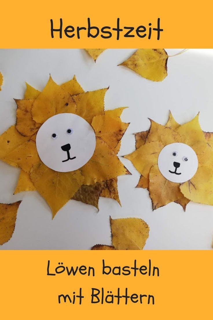 Mit tollen Herbstblättern haben wir Löwen gebast…