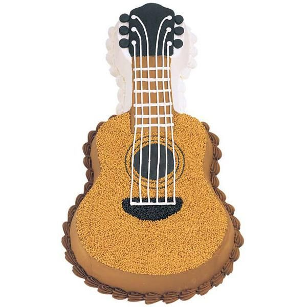 """""""Guitar Cake"""" is only use for kids birthday party. This cake is very attractive and all kinds of kids love it."""