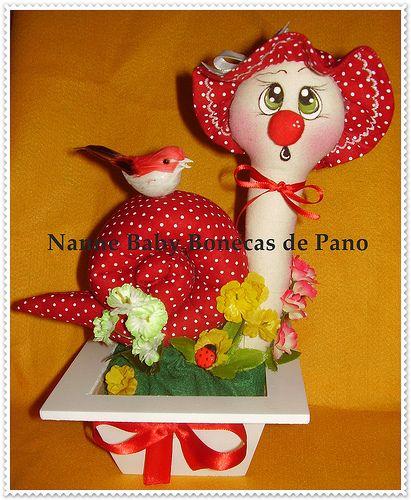 Caracol Peso de Porta by Nanne Baby Bonecas de Pano, via Flickr