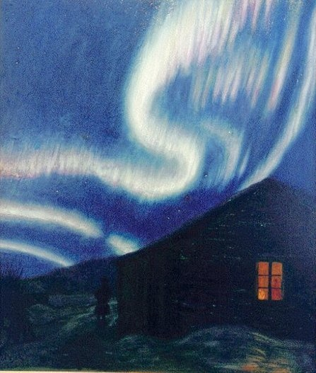 HARALD MOLTKE (1871-1960) Northern Lights in Finland