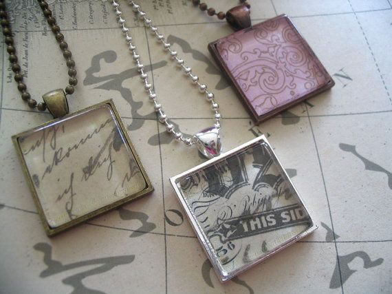 13 best pendant trays for jewelry images on pinterest trays 10 square pendant trays with glass insertsmix by candytilesstudio 1000 mozeypictures Image collections