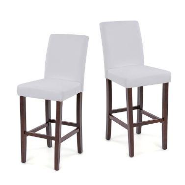 Top Ikayaa Moderne Faux Cuir Chaises Haute Pour Dner Avec Cadre En Bois Cuisine Bar Pe With De