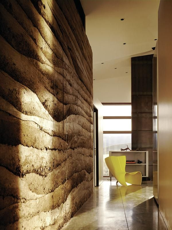 I Love This Rammed Earth Wall. What A Texture