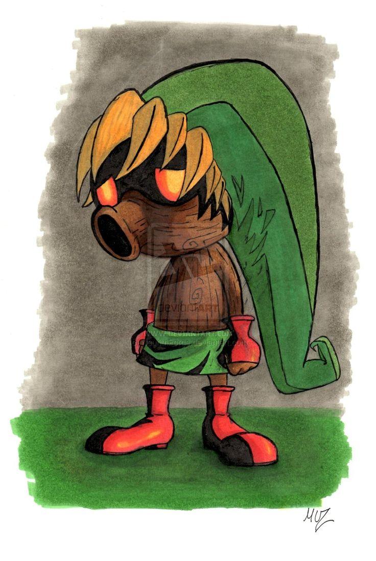 majora's mask: link by NeurithForge.deviantart.com on @deviantART