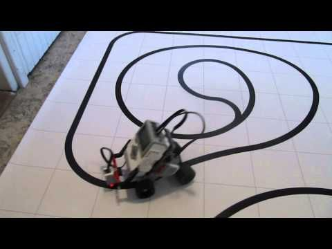 Lego Mindstorms EV3 - Four-Wheel Line Follower - YouTube