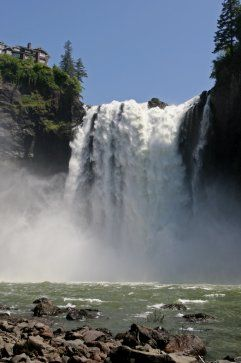 "Visit Snoqualmie Falls: There's a reason why this 268-foot waterfall attracts 1.5 million visitors a year. It's pretty, easy to visit and known from cult TV show ""Twin Peaks."""