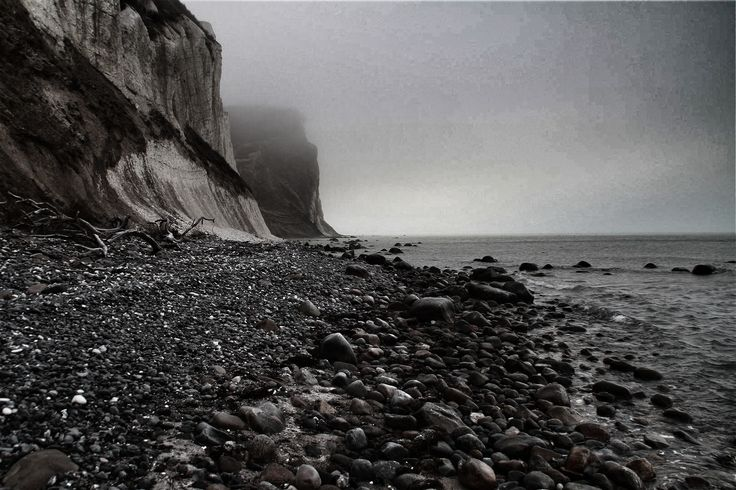 White cliffs, grey weather ....