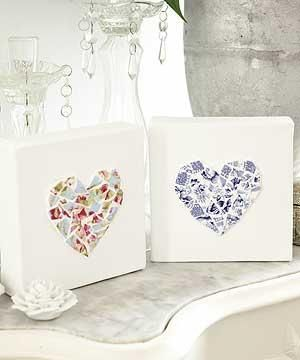 Recycle old crockery to make ceramic hearts
