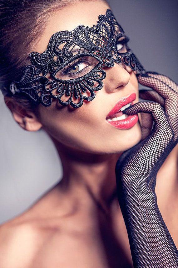 Nude masquerade party women