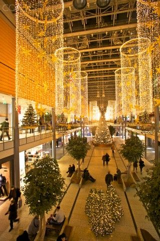 Christmas in Potsdamer Platz Arkaden, Berlin, Germany