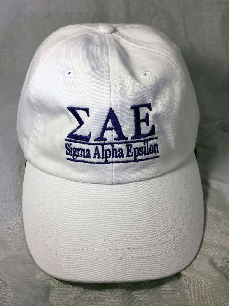 Sigma Alpha Epsilon SAE Fraternity Hat- White - Brothers and Sisters' Greek Store