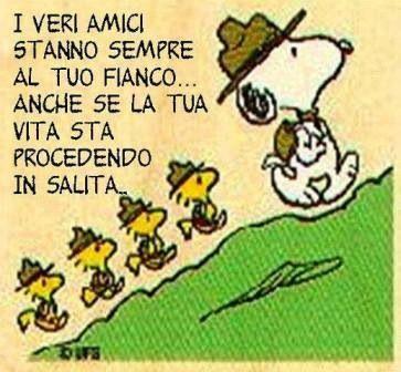L'amicizia /Los amigos verdaderos están siempre a tu lado...aunque tu vida se esté llevando en subida.