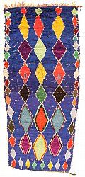 Marokkaanse Berber tapijt Boucherouite 280 x 120 cm