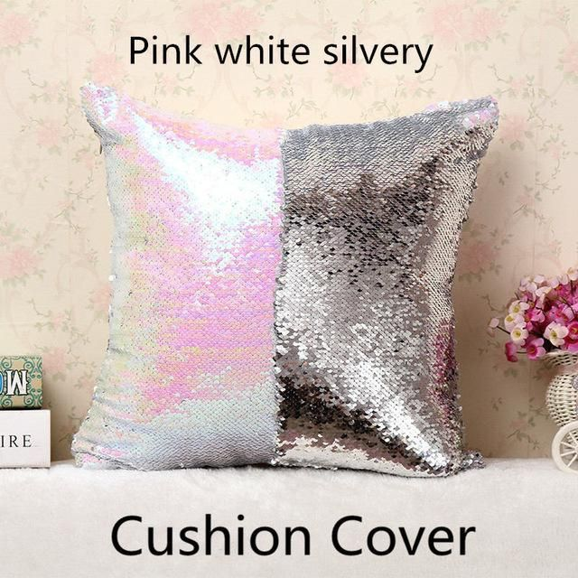 Hot Ing Fashion Personality Chameleon Pillowcase Mermaid Two Color Sequin Mosaic Decorative Cushion Cover Pillow Home Decor 14 65 Icon2 Pinterest