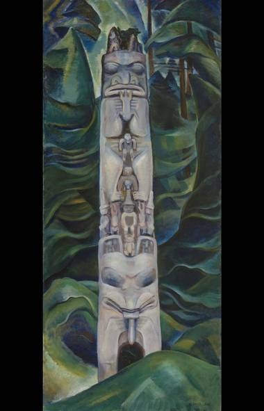 Emily Carr, Totem and Forest, 1931, oil on canvas, Collection of the Vancouver Art Gallery, Emily Carr Trust, VAG 42.3.1(Trevor Mills/Vancouver Art Gallery)