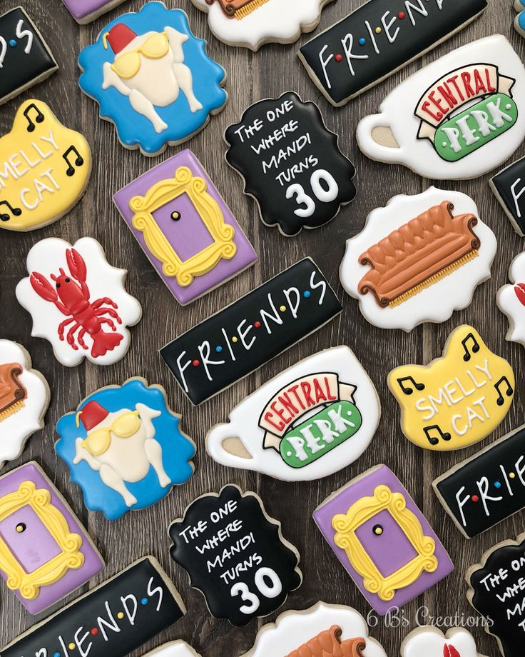 Friends Themed 30th Birthday Cookies!! I Had So Much Fun
