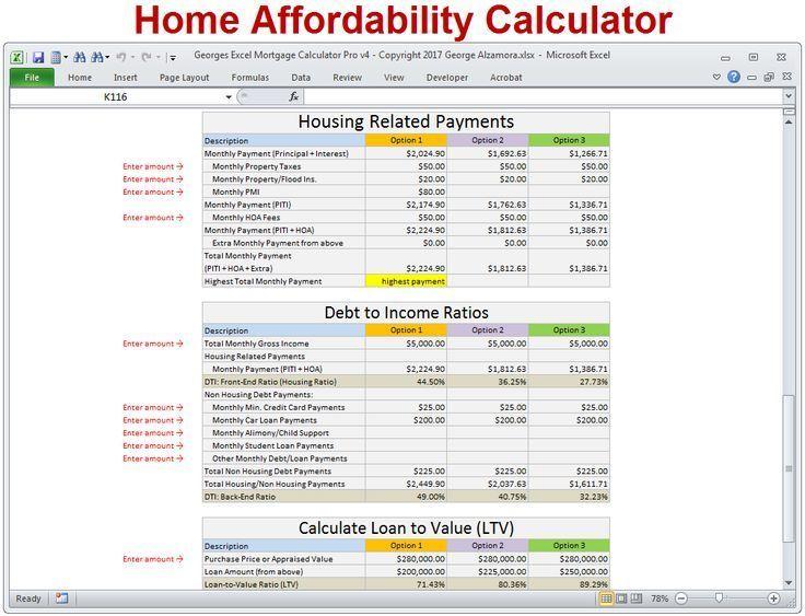 Mortgage Calculator Mortgage Calculator Home Affordability Calculator To Determine H Mortgage Amortization Calculator Mortgage Amortization Mortgage Calculator