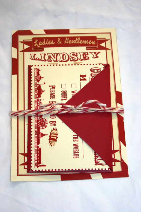 vintage circus wedding invitations from sweetcookie graphic arts ...
