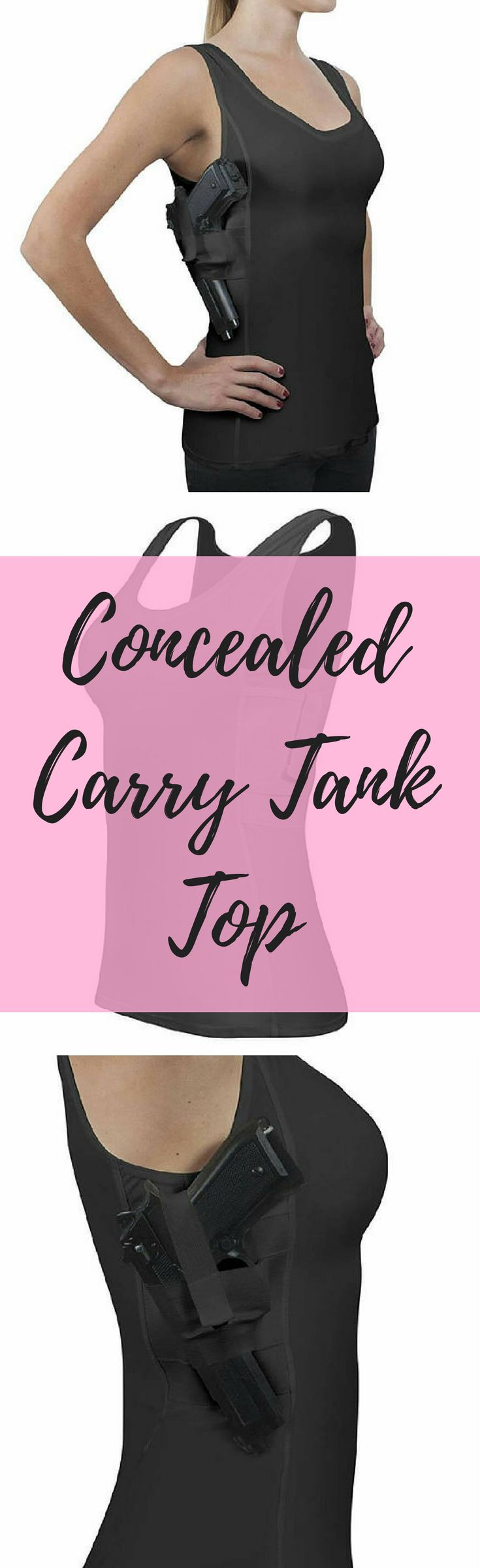 Concealed Carry Black Holster Shirt for Women | Compression Tank Top with Concealment Power | Ambidextrous & Comfortable #ad #conceal #concealment #carry #weapons #clothing #clothingaccessories #womens #womensfashion #womenswear #tactical #holster #tank #tanktop