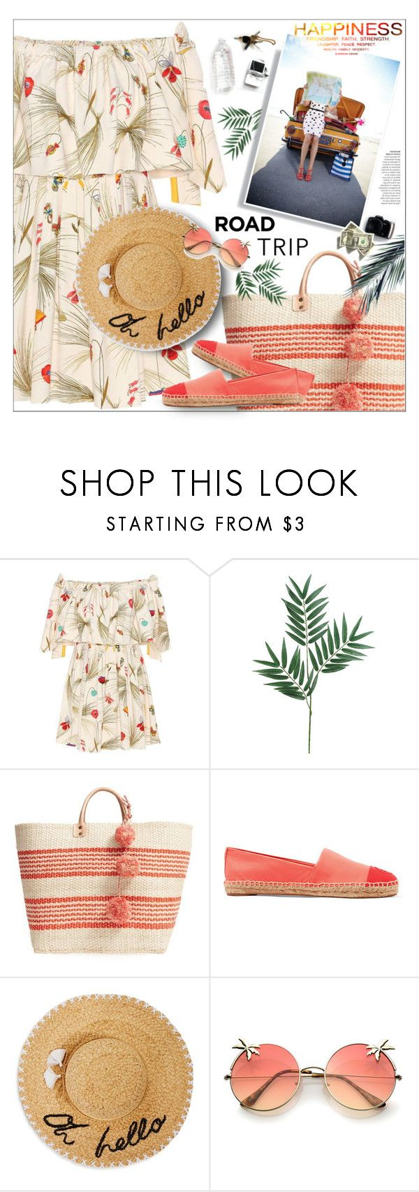 """Towards the sun"" by mari-meri ❤ liked on Polyvore featuring Fendi, Mar y Sol, Tory Burch and Kate Spade"