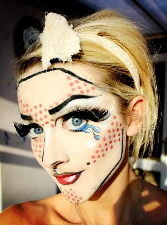 Brilliant pop art make-up