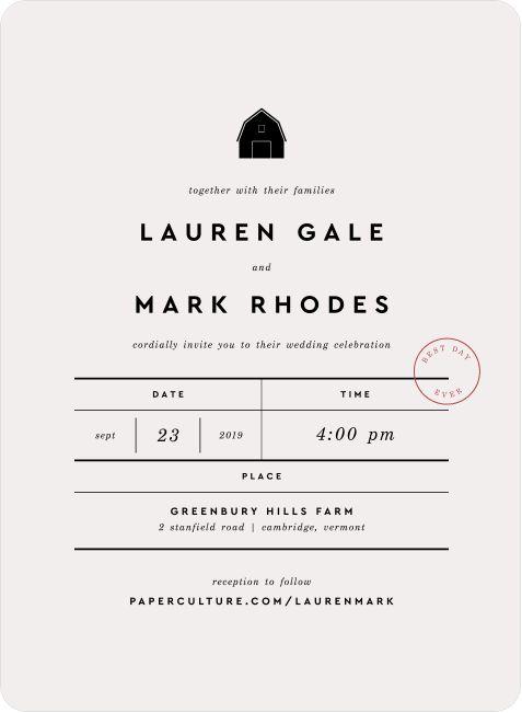 Artisanal Countryside Wedding Invitation Suites