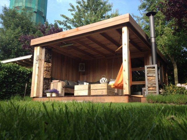 25 beste idee n over achtertuin luifel op pinterest dek - Porte de garage sectionnelle 200x300 ...