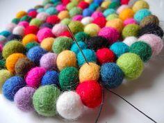 felt ball trivet or rug