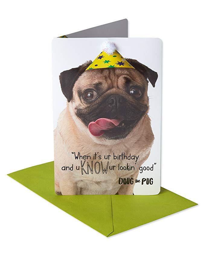 Doug The Pug Top Up Birthday Card Available At Www Ilovepugs Co Uk Post Worldwide Doug The Pug Pugs Birthday Cards