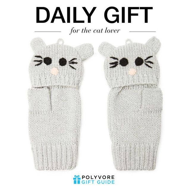 """""""The Daily Gift: Forever 21 Cat Face Gloves"""" by polyvore-editorial ❤ liked on Polyvore featuring Forever 21 and dailygift"""