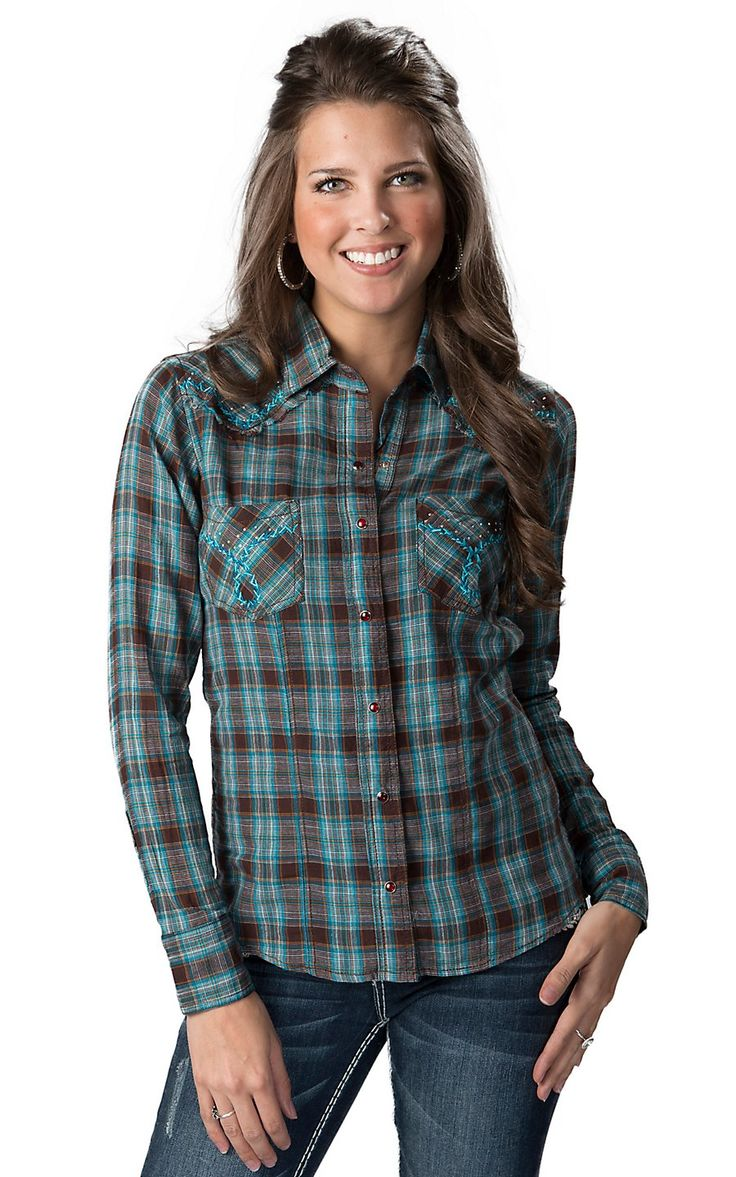 88 best ideas about cowboy clothes on pinterest rock for Brown and black plaid shirt