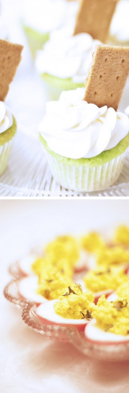 Key Lime Cupcakes and Beet-Pickled Deviled Eggs