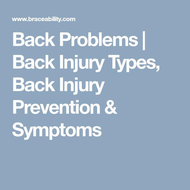 Back Problems | Back Injury Types, Back Injury Prevention & Symptoms