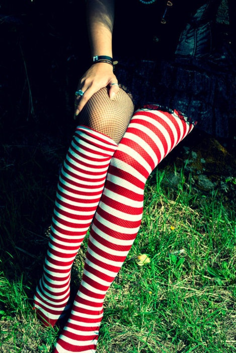 Candy stripes- why do I love these? I'd prefer them in navy, however.