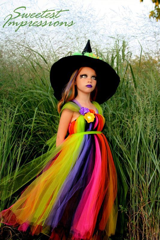 Halloween Witch Costume Tutu Dress  Costume Fancy Witches Hat Sizes 12month-3t