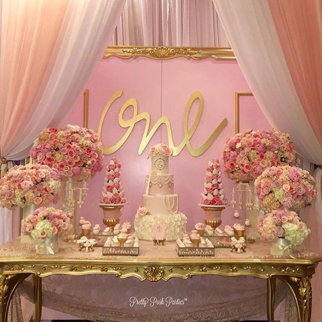 """Gorgeous """"one"""" Year Old Birthday Party!! By #kidsevent"""