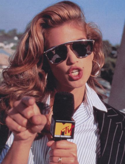 Cindy Crawford in the 90s on MTV